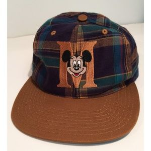 Mickey Mouse Plaid Hat one size fits all Unisex